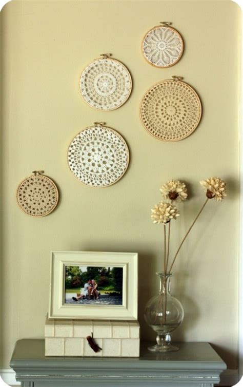 frugal home decor embroidery hoop wall