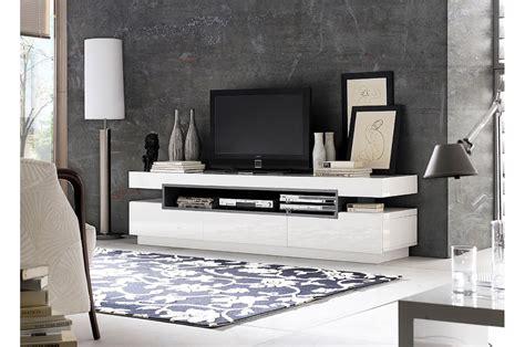 Meuble Blanc Gris by Meuble Tv Design Blanc Gris Laqu 233 Pour Meuble Tv