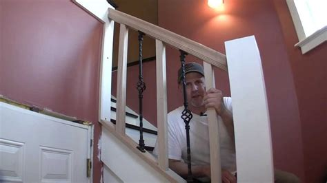 removable banister build removable stair rail pt 1 youtube