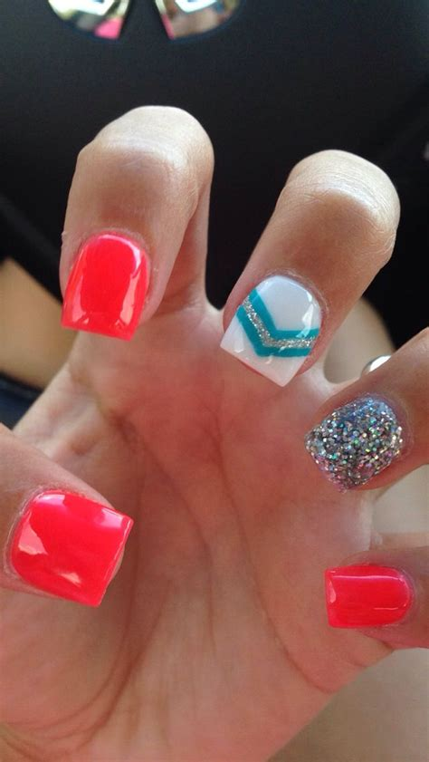 bright pattern nails best 25 bright acrylic nails ideas on pinterest gell