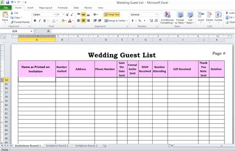 Wedding Guest List Manager Natural Buff Dog Wedding Guest List Template Excel