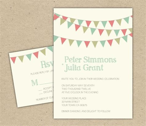 bunting wedding invitations diy 17 best images about wedding invitation on