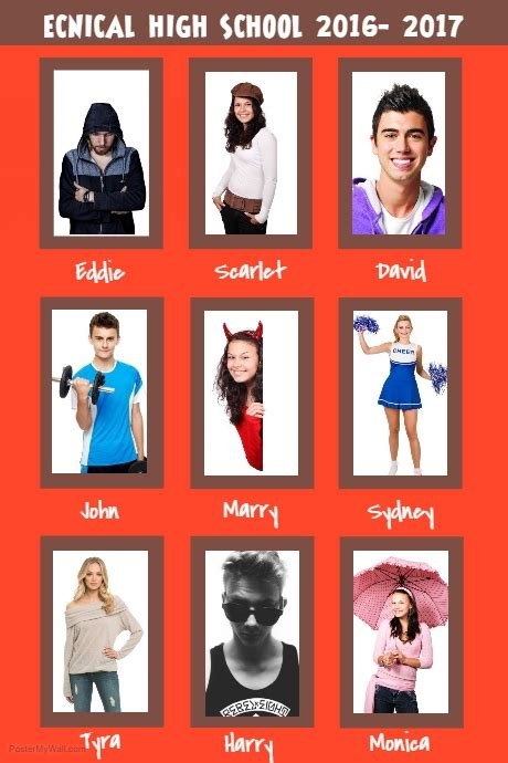 Red Yearbook Collage Page Template Postermywall Yearbook Collage Template