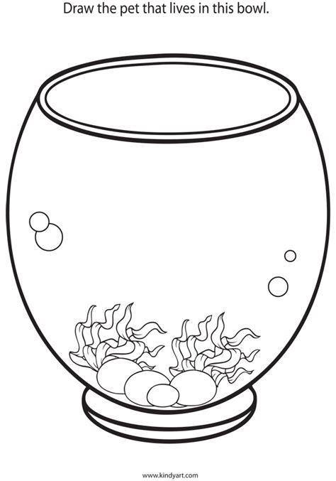Fish Bowl Coloring Sheet Cliparts Co Bowl Coloring Pages