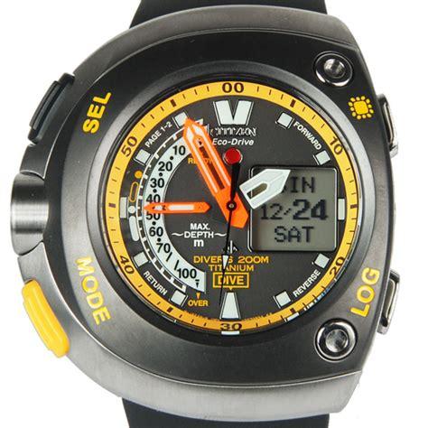 Citizen Eco Drive Promaster Aqualand Divers Titanium Watch JV0055 00E