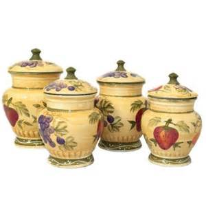 Tuscan Kitchen Canister Sets by Ceramic Kitchen Canisters Ebay