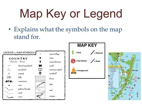 what does map stand for maps and legends ppt