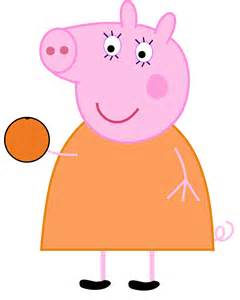 peppa pig mummy pig eating orange dev catscratch deviantart