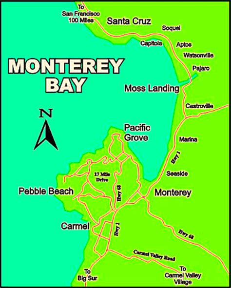 california map monterey bay vineyard wine and cas on