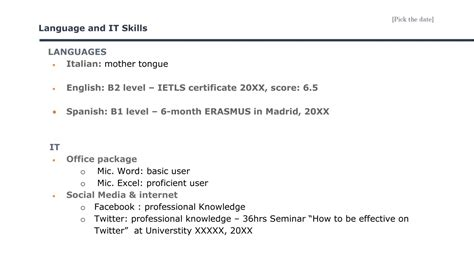 cv languages a brief guide on how to create the best curriculum vitae