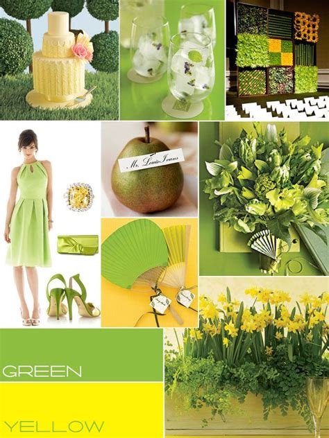 themes for the colour yellow 28 best images about wedding color palette green on