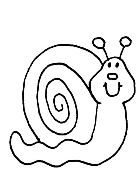 snail coloring sheet coloring pages