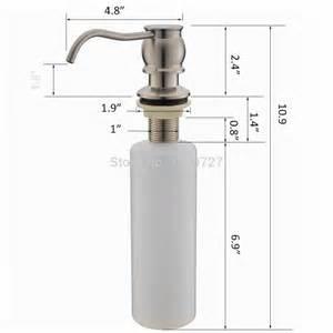 Kitchen Sink Soap Dispensers Classic Brass Brushed Nickel Countertop Kitchen Sink Soap Dispenser Bottle Built Wall Mount