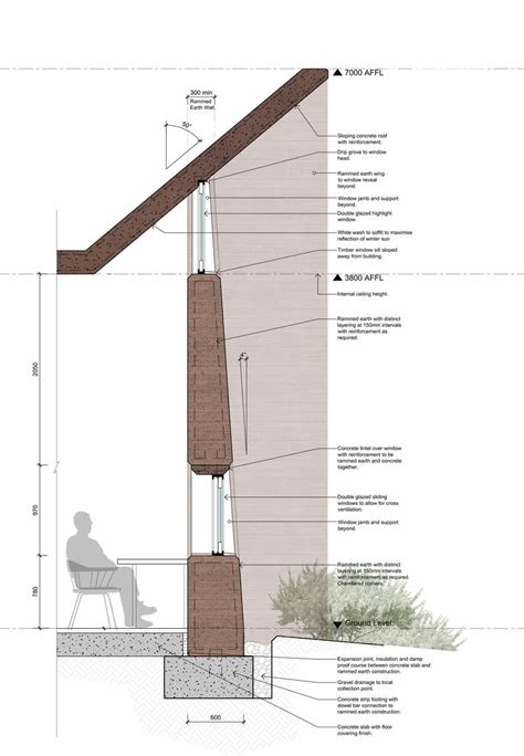 green roof wall section 25 best ideas about rammed earth on pinterest rammed