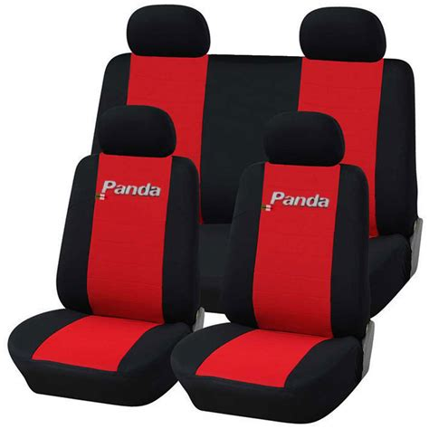 solid bench seat covers fiat new panda seat covers solid rear bench red black ebay