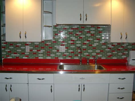Metal Kitchen Backsplash by 11 Red Kitchen Designs Retro Renovation