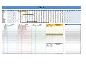 Blank Calendar Template Excel by 2017 And 2018 Calendars Excel Templates