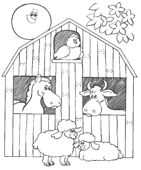 Barn Coloring Pages With Animals | barn door coloring pages coloring pages