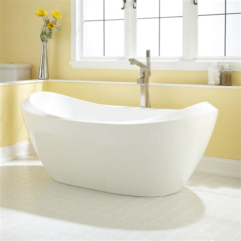 Acrylic Tub 67 Quot Halsey Acrylic Tub Bathroom