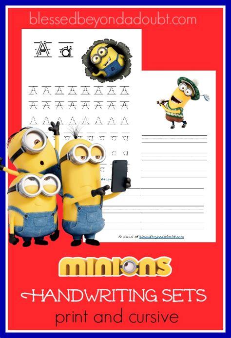 printable minion writing paper free worksheets 187 printable handwriting free math