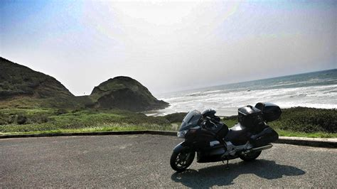 living on the road motorcycle travels on a 34 motorcycle coastline road pickle