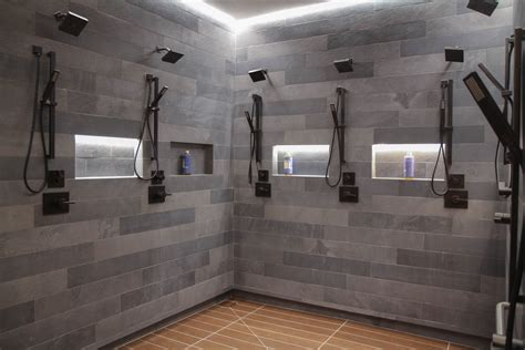locker room showers take a look around the fancy new la clippers locker room curbed la