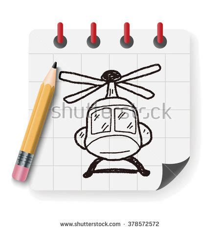 doodle helicopter helicopter isolated stock vector 549934699