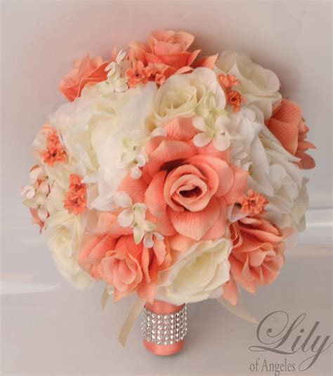 Wedding Bouquet Decorations by 17 Package Silk Flowers Wedding Bouquet Artificial
