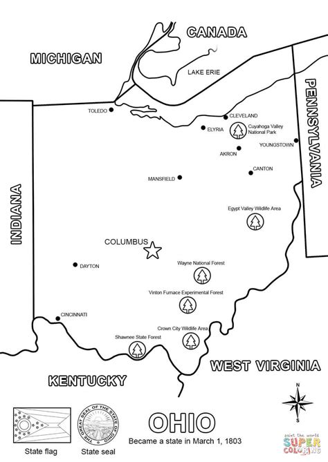 printable map coloring page ohio map coloring page free printable coloring pages