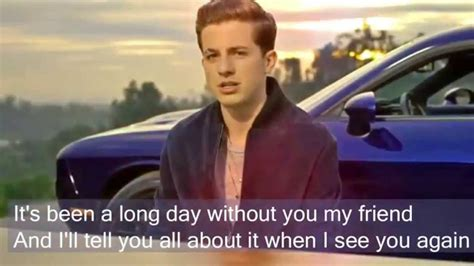 charlie puth rap see you again by charlie puth lyrics full version no rap