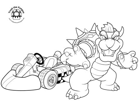 Mario Kart Coloring Pages Printable mario coloring pages black and white mario drawings for you to color in