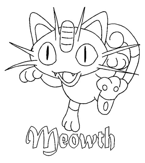 pokemon coloring pages meowth pokemon coloring page meowth coloring pics coloring home