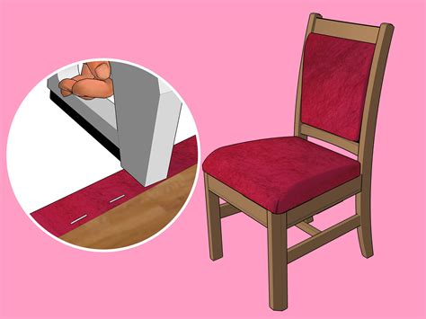 Reupholstering An Armchair by The Best Way To Reupholster A Chair Wikihow