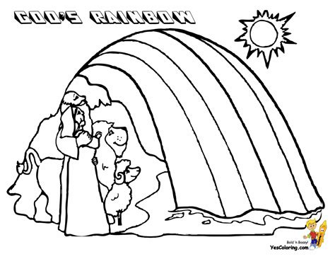 coloring page noah rainbow free noah rainbow coloring pages