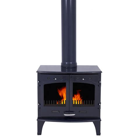 What Is A Solid Fuel Stove by Carron 11kw Solid Fuel Stove Blue Enamel