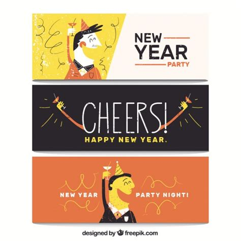 free vector new year banner banners of new year vector free