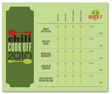 chili cook off score card chili cook off scorecards chili cook off pinterest