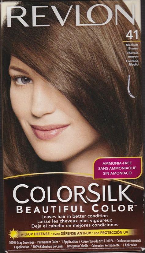 revlon colorsilk beautiful color 41 medium brown hair color new revlon colorsilk hair color 41 medium brown