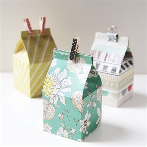 Punch Home Design Templates Download Diy Mini Milk Carton Gift Boxes Gathering Beauty