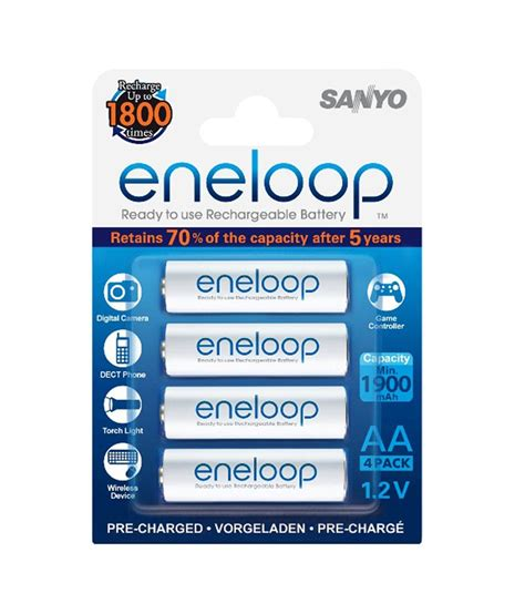 Sanyo Eneloop Glitter Battery Aa 4pcs sanyo eneloop 2000 mah aa rechargeable batteries 4 pcs blister pack price in india buy sanyo