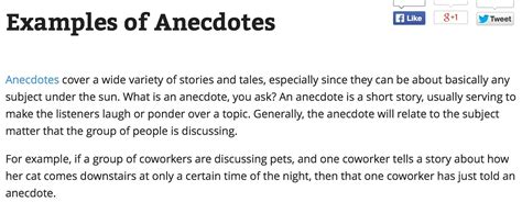 Anecdotes Exles For Essays by Anecdote Essay Exles Commonpence Co