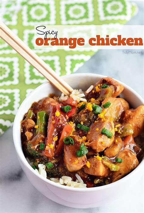 easy spicy orange chicken recipe the amazing the o