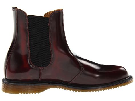 Sepatu Boot Dr Martens Dokmart Maroon Low dr martens flora chelsea boot at zappos
