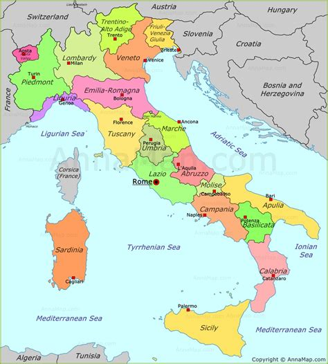 bid in italiano italy political map annamap