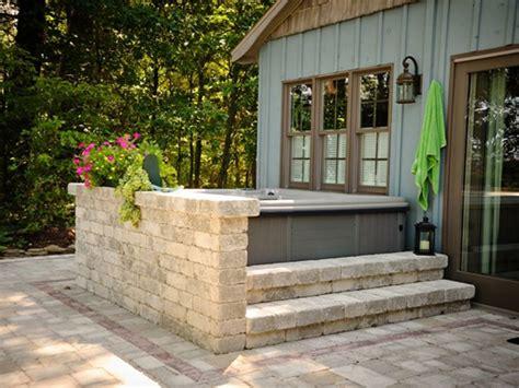 backyard hot tub landscaping hot tub landscaping outdoor living space backyard 2