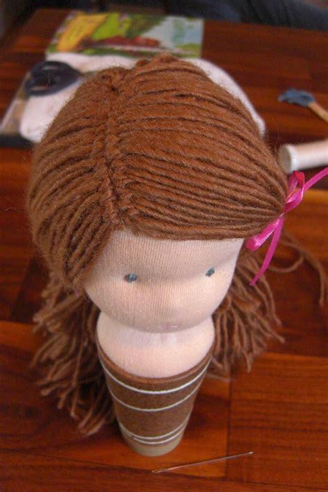 doll hair waldorf doll
