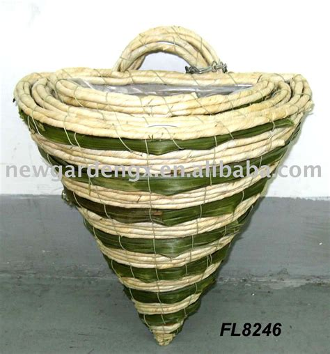 rattan wall basket wall planter rattan hanging basket