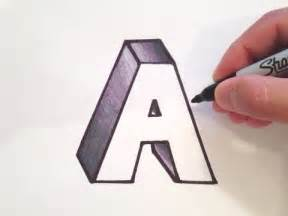 how to draw the letter a in 3d