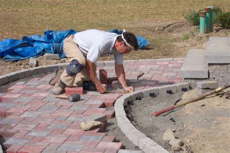 Installation of Paver Sidewalk   Level Green Landscaping