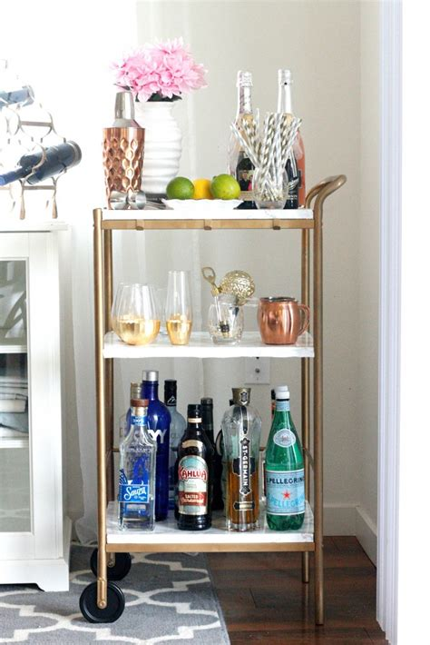 Home Decor And More by Belle Vie Diy Marble Amp Gold Bar Cart For Under 10